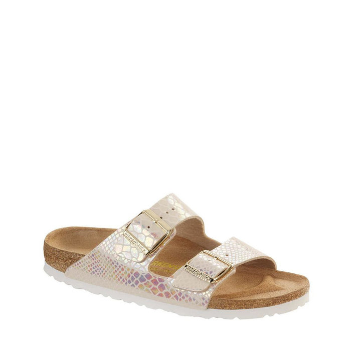 BIRKENSTOCK // ARIZONA / SHINY SNAKE CREAM - ::