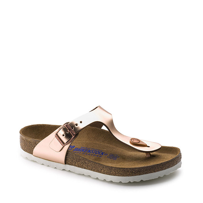 BIRKENSTOCK // GIZEH SFB / METALLIC COPPER - ::