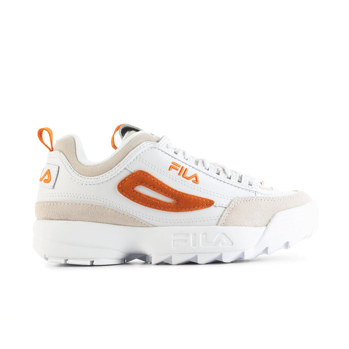 FILA // DISRUPTOR LOW WMN / WHT ORANGE - ::