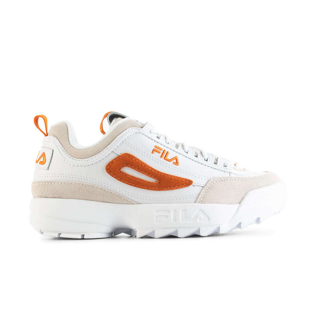latest trends of 2019 classic style of 2019 recognized brands FILA // DISRUPTOR LOW WMN / WHT ORANGE