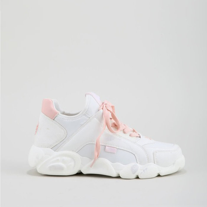 BUFFALO LONDON // CALI / WHITE+PINK - ::