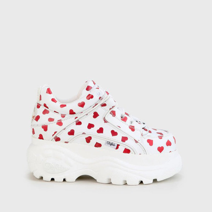 BUFFALO LONDON // 1339-14 2.0 / WHITE+RED HEARTS - ::