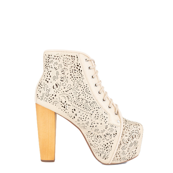 JEFFREY CAMPBELL // LITA-CAT / BEIGE - ::