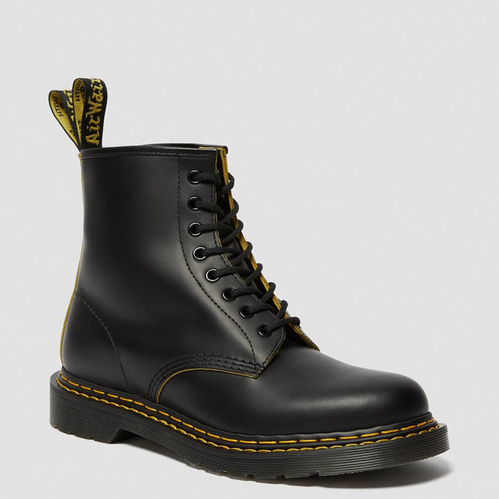 DR. MARTENS // 1460 DS SMOOTH / BLK+YLW - ::