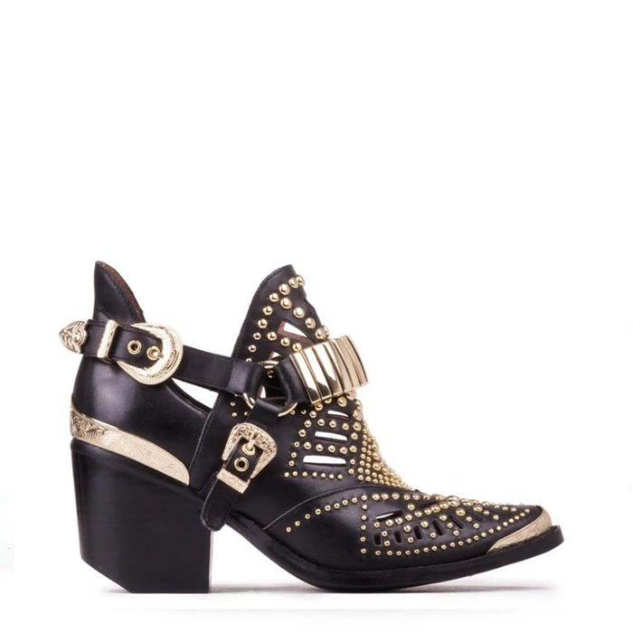 JEFFREY CAMPBELL // CALHOUN-4 / BLACK+GOLD - ::