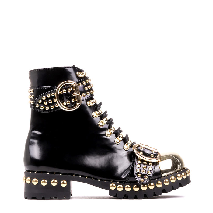 JEFFREY CAMPBELL // GUSTINE / BLACK+GOLD - ::