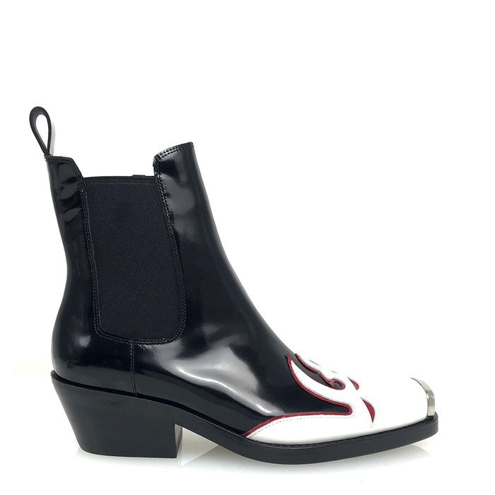 JEFFREY CAMPBELL // POKER / BLACK+WHITE+RED - ::